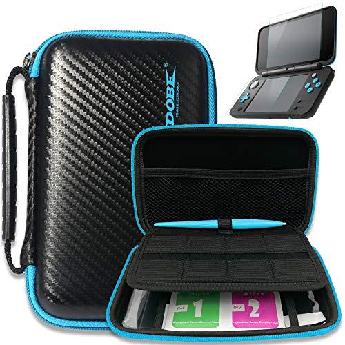 Black draagtas voor nieuwe Nintendo 2DS XL - met 2 screen protector glasfilm - 1 Elektromagnetische touch Pan