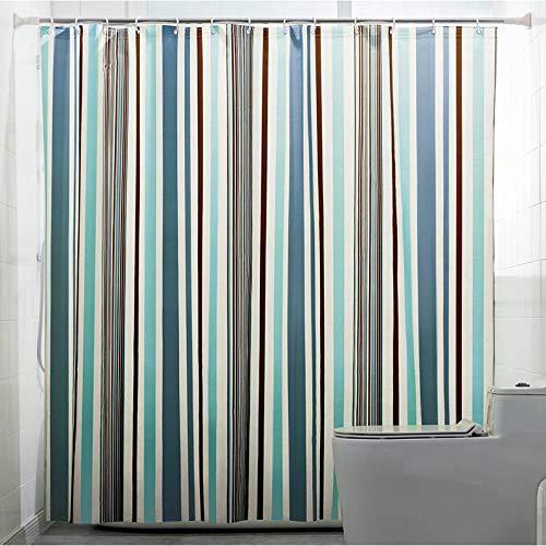 XTUK Home Decor - Tenda da doccia spessa con ganci, impermeabile, antimuffa, Blu, 150*200Hcm