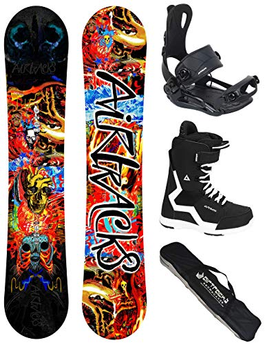 Airtracks Snowboard Set/Board Another World Carbon Wide Hybrid Rocker 153 + Snowboard Bindung Master + Boots Strong 43 + Sb Bag