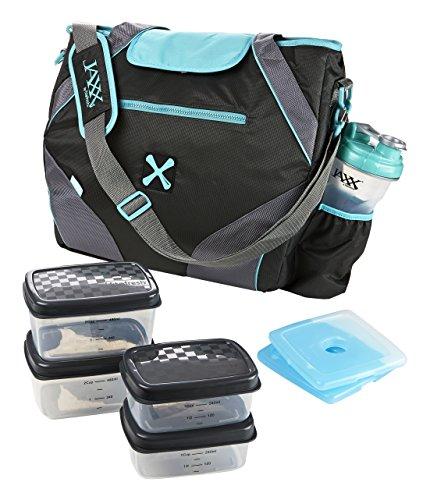 Fit and Fresh Jaxx FitPak Ares Juego de recipientes con control de porciones, Azul