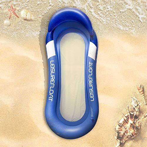 MQW Flotador para playa, natación, balsa flotante, inflable para piscina, para adultos, para natación, fiesta, juguete (azul)