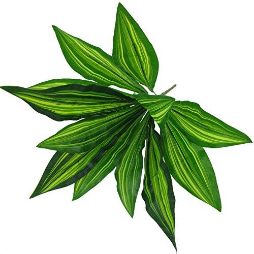 ruiycltd 1Bouquet 12 Heads Artificial Plant Sago Cycas Leaves Home Bonsai Decoration - Green
