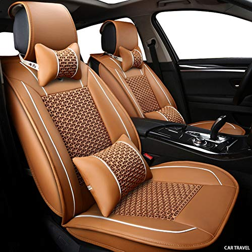Rzj-njw Cubierta de Asiento de Coche para Volkswagen Polo VW Polo 9N 6R VW Passat Passat B5 B6 B7 B8 Passat VW Golf 5 6 7 Campo de Asiento de Coche del Protector,Naranja