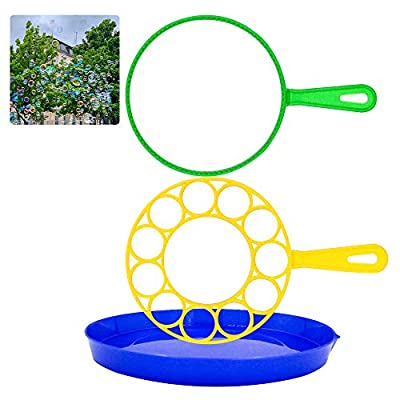UBITREE Bubble Wands Set, 3 PCS Bubbles Wand Funny Bubbles Maker for Outdoor, Birthday Party and Games, Suitable for All Ages by Ubitree