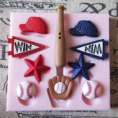 WYFC Baseball-Mütze Silikon-Form-Fondant-Zucker-Formen Bastelwerkzeuge Schokoladen-Form für Kuchen