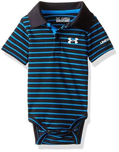 Under Armour Baby-Boys Newborn Polo Yarn Dye. Bodysuit, Black, 6-9 Months