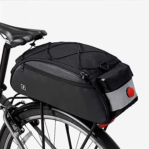 Borsa per telaio della bicicletta Strada della montagna della bicicletta della bici della sede posteriore Rack Bag Tronco pacchetto borsa da sella portante della borsa Robusto e facile da pulire