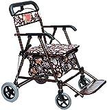 YOUXD Anziani Standard Walkers deambulatore Walker Pieghevole Carrello con la sede Mobilità Soccorso for Adulti maggiori anziane & Handicap