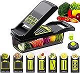 D L D Picadora de verduras y verduras, picadora de alimentos y picadora de cebolla, cortador de verduras y patatas, cortador...