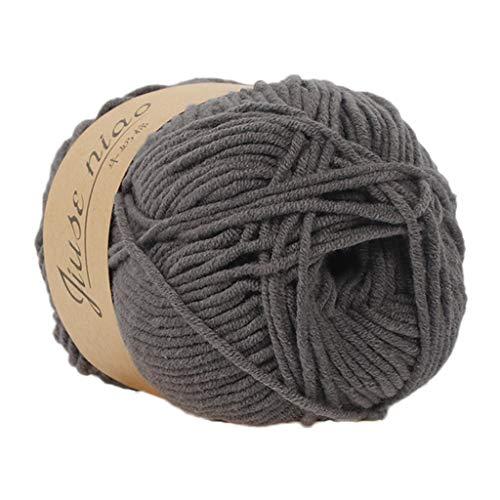 Clearance Sale ! Milk Cotton Wool,Vanvler 1PC 50g Chunky Colorful Hand Knitting Baby Crochet Knitwear Yarn (A2) -  Vanvler -Chenille yarn