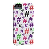 Case Mate CM029455 Barely There Prints - Fundas para Apple iPhone 5S, Hashtag Happy