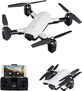 Drone with 4K HD Camera, Fpv Real Time Transmission Drone,RC Foldable Quadcopter for Kids,Adults and Beginners-White,5g 4k