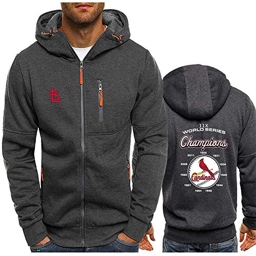 MLB Herren Hoodie, Kapuzenpullover mit St. Louis Cardinals Logo Design Major League Baseball Team Sweatshirts Fans Trikots Liebhaber Hoody Sweater (XXL,B)