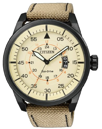Citizen Herren-Armbanduhr Analog Nylon Quarz AW1365-19P