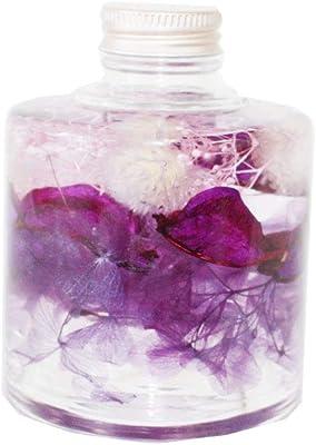 ハーバリウム プリザーブドフラワー 丸 円柱 スパイスボトル パープル 紫 1本 お花部/瓶 植物標本 インテリア雑貨 お祝い 母の日 プレゼントに oh-03