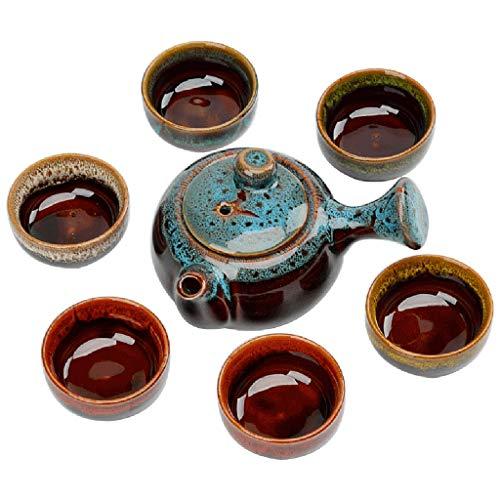 Tasse à café CSQ Théière de vin rouge, un ensemble de céramique Ensemble de thé familial Ensemble de théière de cuisine de salon simple Capacité: 200 Ml Le thé de l'après-midi