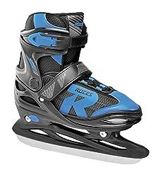 Roces Kinder Jokey Ice 2.0 Verstellbarer Schlittschuh, Black/Astro Blue, 38-41