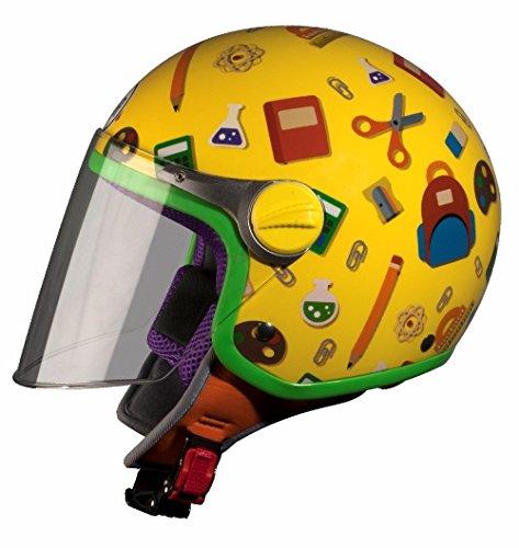 Casco de moto amarillo para Niño
