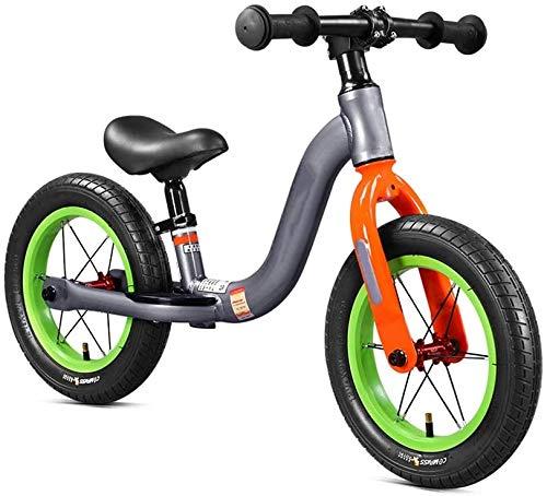 Bicicleta De Equilibrio Para Niños, Bicicletas De Equilibrio Para Niños Al Aire Libre Ninguno De Los Bicicletas De Entrenamiento De Pedal De 2-6 Años De Edad Super Luz Neumáticos Neumátic(Color:rojo)