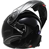 LS2 Helmets Strobe Solid Modular Motorcycle Helmet with Sunshield (Black, Large)