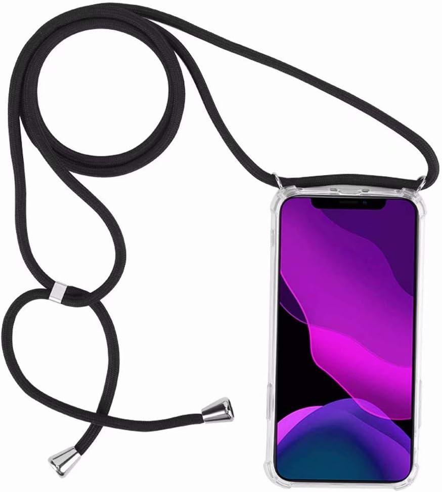 2ndSpring Coque avec Collier Compatible avec Samsung Galaxy S21,Tour de Cou Lani/ère en Corde Pendentif Housse,Silicone Souple Bleu