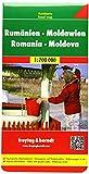 Romania-Moldova 1:700.000: Touristische Informationen. Citypläne. Ortsregister mit Postleitzahlen: AK 0906 (Road Maps)