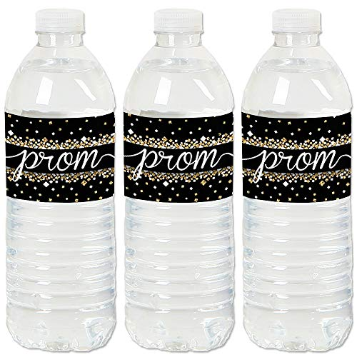 Prom - Prom Night Party Water Bottle Sticker Labels - Set of 20