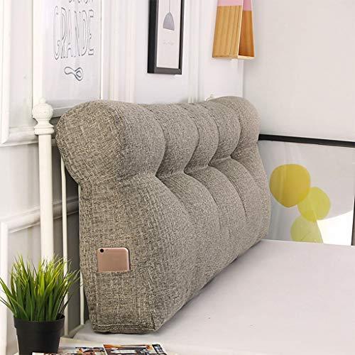"""Bedhoofden Reading Pillow, Driehoekig Wedge Pillow Headboard Verwisselbare Bedside Rugkussens, Gestoffeerde Bed Sofa Rugsteun, Soft Tatami Grote Lendenkussen 150x50x15cm / 59x20x6"""""""
