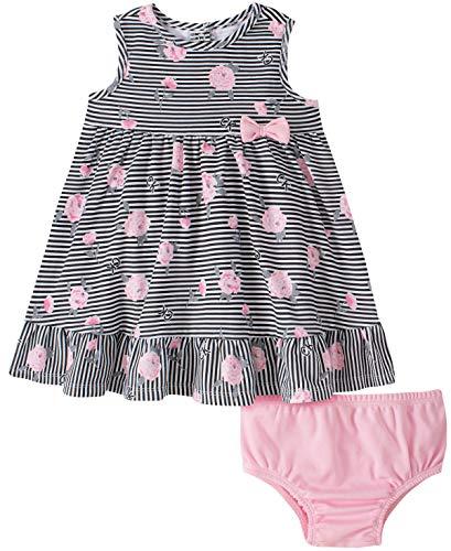 Calvin Klein Baby Girls' 2 Pieces Dress Set, Print/Pink, 6-9 Months