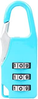 XIAOXIAN Combination Lock, Anti-theft Lock For Backpacks, Small Padlock For Luggage, Mini Dormitory Door, Gym Cabinet Lock, Luggage Lock Happy day (Color : Light blue)