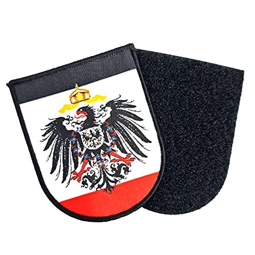 Kaiserreich Sachsen Patch Leipzig Dresden Chemnitz Großer Aufnäher ca. 9cm x 6,5cm mit Flauschseite 2tlg