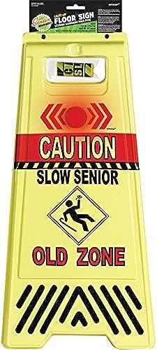 comprar mejor The Party Continuous Continuous Continuous Adult Birthday Party Caution Old Zone Light-Up Floor Sign Decoration, amarillo , 23 x 11 1 2 Plastic by TradeMart Inc.  Entrega directa y rápida de fábrica