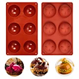"""[Thicker Silicone Mold With Special Bottom] The chocolate mold is stronger, more stable, flexible and durable. The hot chocolate bomb mold size is 11.50""""x 6.81""""x 1.37"""". Each cavity is 2.63"""" in diameter. [Odorless 100% Food Grade] The chocolate molds ..."""
