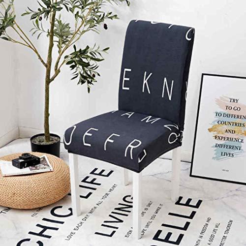 NIKIMI 2 STÜCKE Stretch Armless Stuhl Schonbezug rutschfeste Abnehmbare Esszimmerstuhl Abdeckung Spandex Waschbar Sitz Fall für Bankett