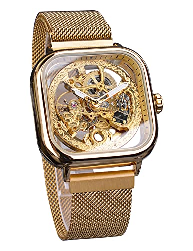 Forsining Fashion Automatic Mechanical Wrist Watch Golden for Mens Watches...
