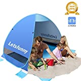LetsFunny Large Pop up Beach Tent Sun Shade Shelter, UPF 50+ Pop-up 3-4 Person Outdoor Beach Tents Shelter Automatic Portable Sport Sun Umbrella Anti UV Baby Tent,Suitable for Family