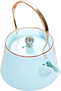 Elegant Ceramics Tea Pot Dragon Handle Heat Resistant Ceramics Teapot Water Jar Drinkware for Home Office Gift