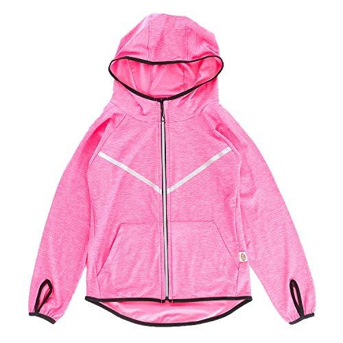 Echinodon Mädchen Sport Jacke Schnelltrockend Jacke für Yoga Jogging Training Fitness Rosa 140