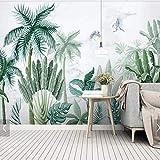 HANHUAN Feuilles De Palmier Tropical Papier Peint Murale Murale Papier Peint Décoratif Amélioration De L'Habitat Pluie Verte Plante Verte Feuille Murale Murale