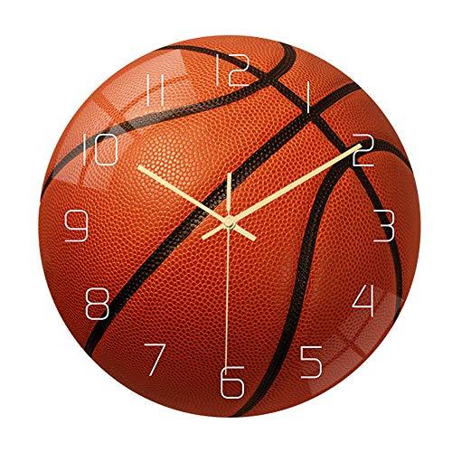 Valentoria Basketball Football Soccer Golf Baseball Tennis Wall Clock Bedroom Livingroom Alarm Clock Birthday Chritmas Gifts Present for Kids Son Boys Baby Child NBA Basketball MLB Fans (Basketball)