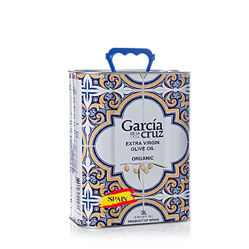 "Garcia de la Cruz ""Master Miller"" Premium Extra Virgin Olive Oil Organic from Spain Family Owned, Single-Origin Keto, Paleo, Whole 30, Plant Based, Non GMO, Organic - Fresh Aromas, Medium Full Flavor"