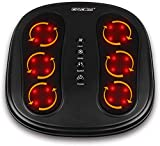 CINCOM Shiatsu Foot and Back Massager with Heat, Deep Kneading Rotating Heads & Soothing Heat with 2 Speed & 2 Modes Helpful for Plantar Fasciitis and Back Pain