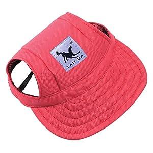 Charmante casquette en toile squarex pour chien - Casquette Tailup de baseball avec visière pour animal domestique - 4tailles au choix