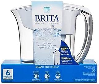 Brita 6tasses Amalfi Pichet jusqu'à 40gallons d'eau (Blanc)