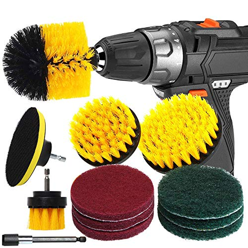 Drill Brush Attachment Set Power Cleaning Scrub Brush, Moontie All Drill Brushes
