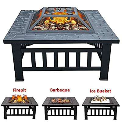 BBQ Table Fire Pit and Grill