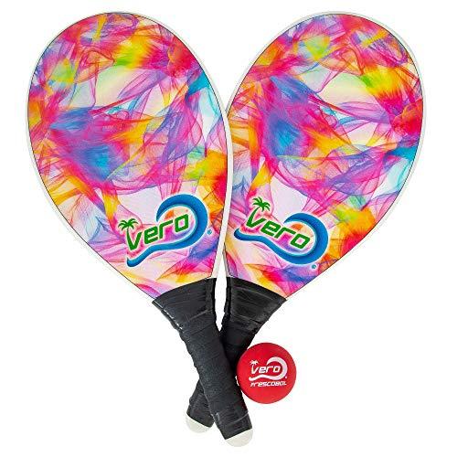 2 Fiberglass Frescobol Beach Paddleball Paddles, Official Ball, Bag
