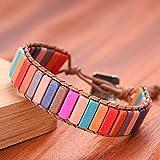 N/A Jahrestag Handgemachte kreative Geschenke Multi Farbe Stein Chakra Armband Schmuck Tube Perlen...