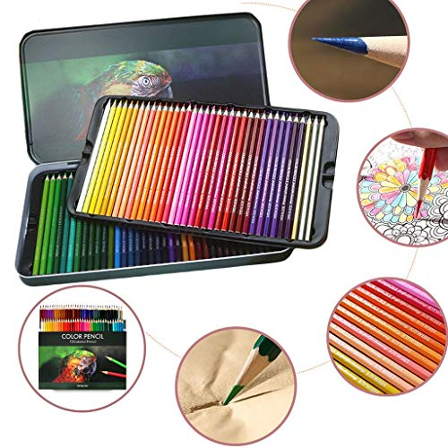%58 OFF! Wooden Colored Pencils Set - 48/72 Coloring Pencils for Adult Coloring Books Sketching Shad...