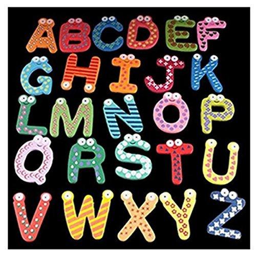 Asien imán de frigorífico de 26 Letras magnéticas del Alfabeto, imanes de Nevera, Etiqueta engomada, Juguetes para la educación Infantil